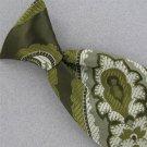 Vtg Don Loper Paisley Olive Green Snap On Clip-On 1960 60s 70s Men Neck Tie #V-4