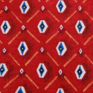 #1A KASPER RED WHITE BLUE DIAMOND SILK Men Neck Tie Cravatta Cravat Krawatte