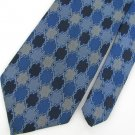 Vintage Wemlon Wembley Wide Checker Blue Texture 60s 70s 1970 Mens Neck Tie #VE