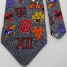 New MERGE LEFT USA BIG 12 XII UT BU GRAY -LUXURY MENS Neck Tie Men Designer Tie