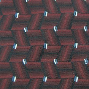 #1A NWT CROFT & BARROW Tie MAROON BLACK WOVEN  MEN NECKTIE Corbata Cravatta