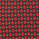 ALEXANDER JULIAN COLOURS CHECKERED RED GOLD NECK TIE Men Designer EUC