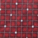 FUMAGALLIS STUDIO SQUARES RED SILK/NYLON MEN NECK TIE Men Designer Tie EUC