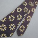 Vtg Rare 40s 50s Art Deco Swing Lindyhop Rockabilly Purple Men Neck Tie #VE