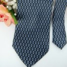 #1A USA SELLER New ZIGGURAT NECKTIE DarkBlue BLACK CHECKER SILK MEN NECK TIE