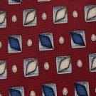 A|K|A EDDIE BAUER MAROON BLUE YELLOW SILK NECK TIE Men Designer Tie EUC