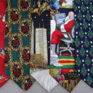 2 Christmas Xmas Holiday Silk Men's Ties Necktie Neck Tie Lot #LO22