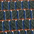 #1A OSCAR DE LA RENTA STRIPE GREEN BLUE SILK Men Neck Tie Cravat Cravatta