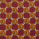 J. CREW SQUARES MAROON ORANGE OLIVE SILK MEN NECK TIE #6f4