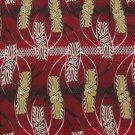 OSCAR DE LA RENTA USA FLORAL STRIPE RED GOLD GREY Neck Tie Men Designer Tie EUC