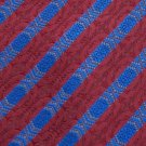 DANIEL DE FASSON MAROON BLUE STRIPE WOVEN Men Neck Tie Men Designer Tie EUC