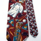 FRANCO BARETTA GOLF CLUBS/SHIRTS MAROON MEN NECK TIE Men Designer Tie EUC