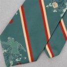 Vtg Don Loper Nude Nake Girl Garden Flower Thick Texture 60s Neck Tie #V-4 EVC