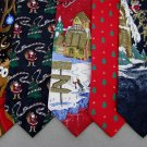 5 Christmas Xmas Holiday Silk Men's Ties Necktie Neck Tie Lot #P12 Excellent