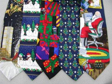 2 Christmas Xmas Holiday Silk Men's Ties Necktie Neck Tie Lot #LO19Q