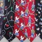2 Christmas Xmas Holiday Silk Men's Ties Necktie Neck Tie Lot #L2