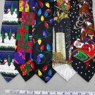 5 Christmas Xmas Holiday Silk Men's Ties Necktie Neck Tie Lot #P18Y Excellent