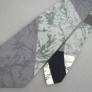Vtg Mr. Syd El Syd Collection Gray Cotton Wide 70s 60s 1970 Mens Necktie Tie #VE