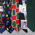 5 Christmas Xmas Holiday Silk Men's Ties Necktie Neck Tie Lot #P15 Excellent
