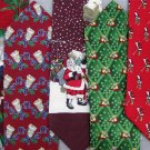 5 Christmas Xmas Holiday Silk Men's Ties Necktie Neck Tie Lot #P1 Excellent