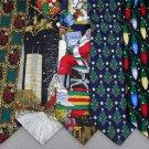 7 Christmas Xmas Holiday Silk Men's Ties Necktie Neck Tie Lot #P21K Excellent
