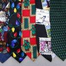 7 Christmas Xmas Holiday Silk Men's Ties Necktie Neck Tie Lot #P15U Excellent