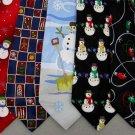 7 Christmas Xmas Holiday Silk Men's Ties Necktie Neck Tie Lot #P11G Excellent
