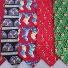 5 Christmas Xmas Holiday Silk Men's Ties Necktie Neck Tie Lot #P5 Excellent