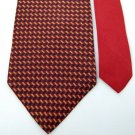 NAUTICA STRIPE RED NAVY YELLOW SILK Men Neck Tie Men Designer Tie EUC