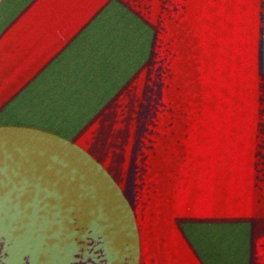 GIANFRANCO BANFI ABSTRACT GREEN RED BLUE NECK TIE Men Designer Tie EUC