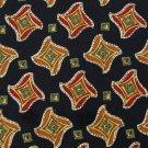 CHAPS RALPH LAUREN BLACK RED ORANGE SILK MENS NECK TIE Men Designer Tie EUC