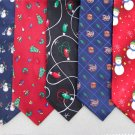 2 Christmas Xmas Holiday Silk Men's Ties Necktie Neck Tie Lot #L7