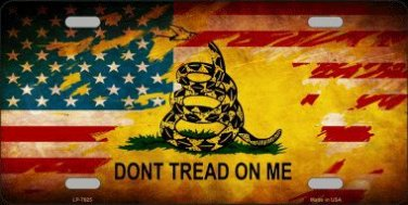 Don't Tread On Me American Flag Novelty License Plate