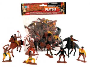 WILD FRONTIER PLAY SET/TOY COWBOYS & INDIANS PLAYSET