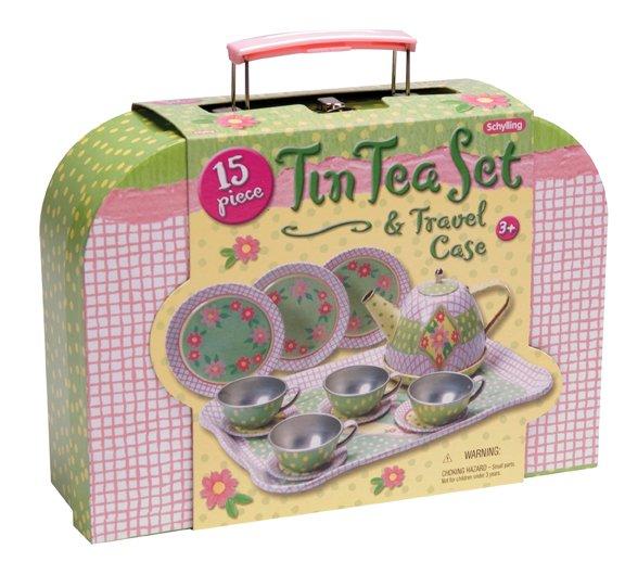 Tin Tea Set in Case