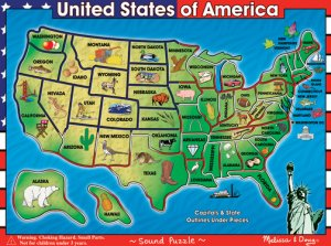 USA Map Sound Puzzle