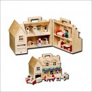Melissa and Doug - Fold & Go Dollhouse Play Set