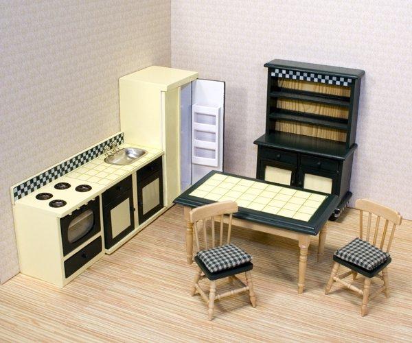 Melissa & Doug Toys - Dollhouse Kitchen Furniture Set