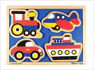 Melissa and Doug - Things That Go Shaped Puzzle