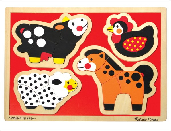 Melissa and Doug - Farm Animals Shaped Puzzle
