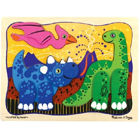 Melissa and Doug -Prehistoric Pals Layered Puzzle