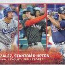 Adrian Gonzalez-Giancarlo Stanton-Justin Upton 2015 Topps #349 Baseball Card