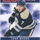 John Moore 2011-12 Score Rookie #506 Columbus Blue Jackets Hockey Card
