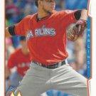 Henderson Alvarez 2014 Topps #241 Miami Marlins Baseball Card