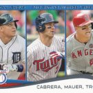Miguel Cabrera-Joe Mauer-Mike Trout 2014 Topps #103 Baseball Card