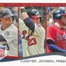 Michael Cuddyer-Chris Johnson-Freddie Freeman 2014 Topps #237 Baseball Card