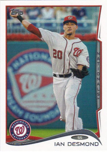Ian Desmond 2014 Topps #118 Washington Nationals Baseball Card