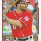 Danny Espinosa 2014 Topps #455 Washington Nationals Baseball Card