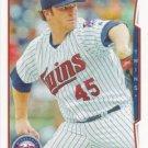 Phil Hughes 2014 Topps #541 Minnesota Twins Baseball Card