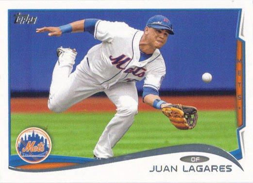 Juan Lagares 2014 Topps #304 New York Mets Baseball Card